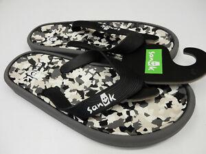 Sanuk Mens Sandals Sidewalker Black Multi Size 9