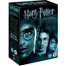 Harry Potter Complete 1-8 Movie DVD Collection Films Box Set Sealed Region 2