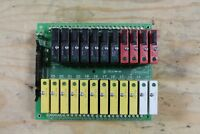 GRAYHILL 70GRCQ24 I/O RELAY MOUNTING BOARD w/ Relays