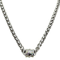 "Kirks Folly Magic Weave 17"" Chain Magnetic Interchangeable Necklace (Silvertone)"