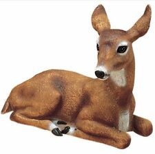 Mother Doe Laying Deer Outdoor Animal Garden Statue