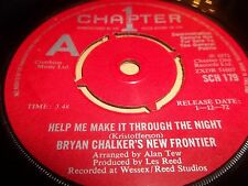 "BRYAN CHALKER'S NEW FRONTIER "" HELP ME MAKE IT THROUGH THE NIGHT "" 7"" SINGLE"