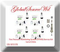 4 Kits 34000 Aluminum Tire Pressure Monitoring System (TPMS) Service Kit 97-20