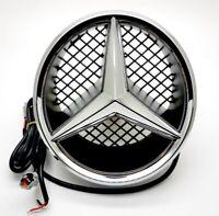 White Motor Car Front Grille Star Emblem For Mercedes Benz Illuminated LED Light