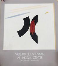 Judith Murray Lincoln Center Poster - Mozart Bicentennial 1991, silkscreen