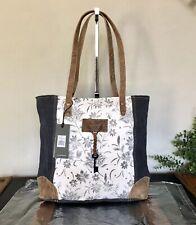 NWT Myra Bag Abstract Key Upcycled Canvas Tote Bag Purse