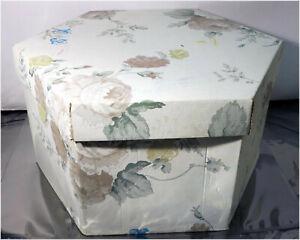 "Whitmor Whitney Hexagon Storage Box Container, Cardboard, 13"" x 13"" x 7"""