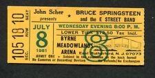 Bruce Springsteen 1981 The River Tour Concert Ticket Stub Meadowlands NJ