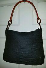 Flora Bella 100% Paper Black Shoulder Bag w/ Plastic Handle