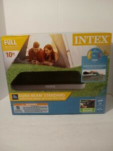 Intex Dura-Beam Full Size Standard Airbed with battery pump 54 x 75 x 10in - New
