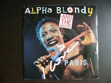 "SP ALPHA BLONDY AND THE WAILERS ""I love Paris""  Pathé-EMI 2015377 (1986)"