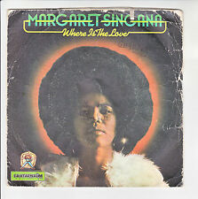 "Margaret SINGANA Vinyl 45T 7"" WHERE IS THE LOVE -I SURRENDER -CAAFARNAUM 59 RARE"