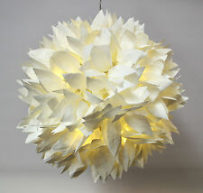 NEXT FLORAL BALL PENDANT WHITE BAY LEAF LED SHADE (BATTERY)