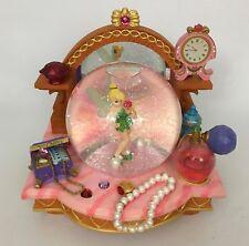 Walt Disney Peter Pan's Tinkerbell Vanity Mirror Musical Snowglobe Water Globe