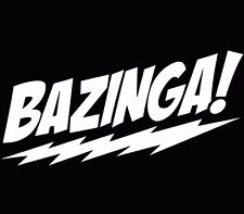 Bazinga Sticker Vinyl Decal Big Bang Theory Sheldon Cooper Funny Car White