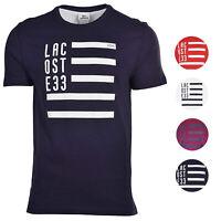 Lacoste Men's Regular Fit Cotton Flag Crew Neck Shirt T-Shirt