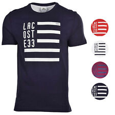 Lacoste Men's Regular Fit Cotton Flag Crew Neck Shirt T-Shirt