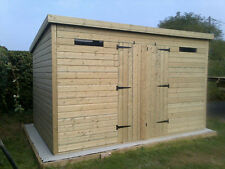 14x8 Tanalised 13mm Pent Home Pent Office/Securtiy Shed