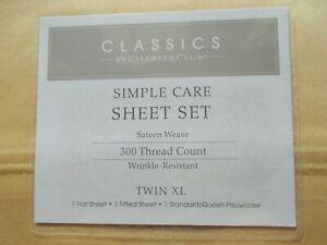 Classics By Charter Club Twin XL Sheet Set 300 Thread Count Ultra Soft  New $70