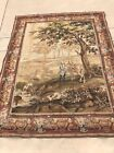 """antique vintage wall hanging tapestry The Hunt Large Multicolor 70"""" X 88"""""""