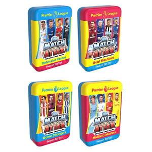 2017-18 TOPPS MATCH ATTAX EPL CARDS - MEGA TIN 4-PIECE COMBO PACK