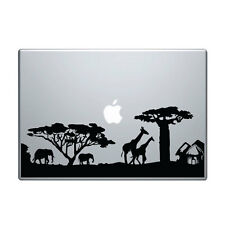 "Macbook Aufkleber Sticker Decal skin Air Pro 11"" 13"" 15"" 17"" Savanne Safari v2"