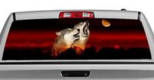 Truck Rear Window Decal Graphic [Wolves / Alpha Male Howl] 20x65in DC51609