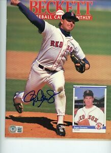 ROGER CLEMENS REDSOX BROOKS ROBINSON ORIOLES BECKETT MAGAZINE SIGNED AUTOGRAPHED