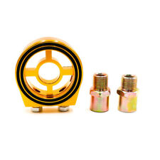 3/4 UNF-16 M20*1.5 Oil Cooler Sandwich Plate Filter Kit Fuel Sensor Adapter Gold