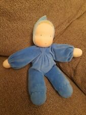 Grimms Blue Soft Waldorf Doll Baby Comforter Doudou Lovey Dolly Toy Grimm