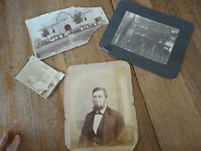 Lot Vintage Antique Photos Platteville, WI school - man on wheelchair, poor cond