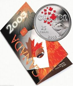 2003 Canada 25 Cents Coloured Quarter - Canada Day from the Mint - STJH13