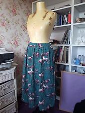 Taille Xsmall/8 vintage country chic Cath Kidston Cheval Poney Imprimé Jupe