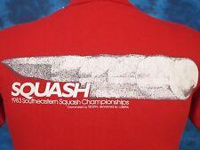 vtg 1983 SOUTHEASTERN SQUASH CHAMPIONSHIPS COCA-COLA T-Shirt XS/S coke thin 80s