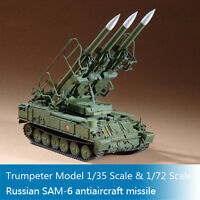 Trumpeter 00361 07109 1:35 1:72 Scale Russian SAM-6 Antiaircraft Missile Models