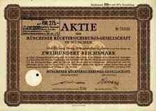 Münchener Rückversicherung 1929 München Ergo Victoria Hermes Juchow Namensaktie