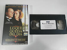REMAINS OF THE DAY THE WHAT IS LEFT DAY VHS TAPE V.O. ENGLISH SUBTITLES SPANISH