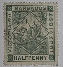 Travelstamps: 1897 BARBADOS STAMPS SCOTT #82 Queen Victoria Diamond Jubilee Used
