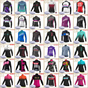 women 2020 New Winter cycling thermal fleece jersey long sleeve warmre bike Tops