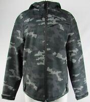 Lucky Brand Men's Navy Blue Full-Zip Camo Hooded Sweatshirt (M)