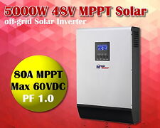 Inverter solare 5000w 48v + mppt caricabatterie solare 80A +caricabatterie