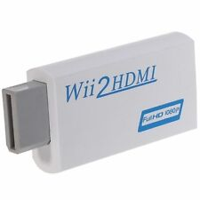 New Wii to HDMI Wii2hdmi 720/1080P HD Upscaling Converter Adapter TV 3.5mm Audio