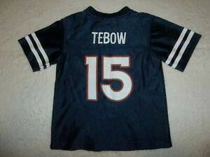 TIM TEBOW #15 DENVER BRONCOS NFL AUTHENTIC FOOTBALL JERSEY TODDLER CHILDRENS 4T