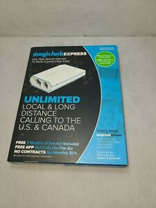 Magic-Jack Express Digital Phone Service - White new