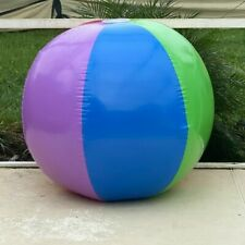 InflateBuster 72in  Super Glossy Rainbow Beach Ball Inflatable Pool Float Toy