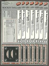 1983-84 Edmonton Oilers Hockey Dollars Display Cards Team Set, Gretzky, etc. (7)