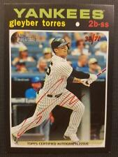 GLEYBER TORRES 2020 Topps HERITAGE REAL ONE RED ON CARD Auto AUTOGRAPH 38/71