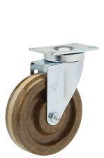 "Caster Swivel Plate: TP 3-1/8x4-1/8. High Temp Phenolic Wheel: 4"" x 1-1/2""."