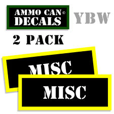 MISC Ammo Label Decals Box Stickers decals - 2 Pack BLYW