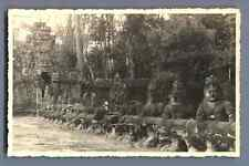 Cambodge, Angkor  Vintage silver print. Cartolina Postale. Postcard paper. Carte